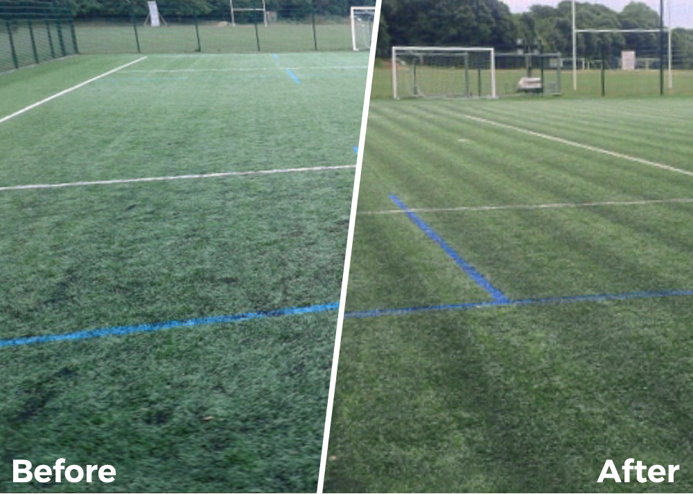 before and after turf maintenance